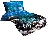 Kaeppel Bettwäsche Riviera 135 x 200 cm blau