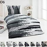 Dreamhome24 Warme Winter Microfaser Thermo Fleece Bettwäsche 135x200 155x220 200x200 Moderne, Design - Motiv:Design 6, Größe:135 x 200 cm