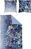 Irisette Mako-Satin Bettwäsche Juwel K 8879-20 1 Bettbezug 155 x 220 cm + 1 Kissenbezug 80 x 80 cm