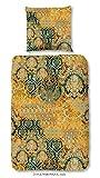 Zouzou Baumwoll Satin Bettwäsche Veronique 2118 Ornamente Opulenz barocke Eleganz 135 cm x 200 cm Gold Multi