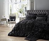 Designer Bestickte Luxus Alexandra/Bettbezug Bettwäsche Set mit Kissen, Polycotton, schwarz, King Size