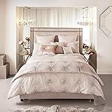 Kylie Minogue at Home Vanetti Bettwäsche, Blush/Nude, luxuriöse Designer-Bettwäsche, Hausfrauenkissenbezug - 1 Stück pro Packung
