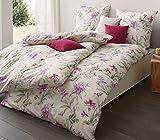 Estella Mako-Interlock-Jersey Bettwäsche 6155-060 violett 135x200 cm + 80x80 cm