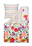 Estella Wendebettwäsche Set Aquarell 4703 985 Blumen Mako Satin 135 cm x 200 cm