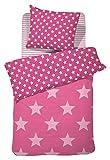 Damai - Starville - Bettwäsche-Garnitur - rosa/pink - 100% Baumwolle - 135x200 cm / 80x80 cm