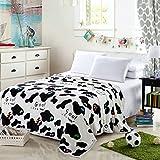 Herbst und Winter Flanell verdicken Coral Carpet Sub Klimaanlage Decke Siesta Decke Handtuch Decke Bettwäsche Doppel Menschen (Farbe: Kühe) ( größe : 120*200cm )